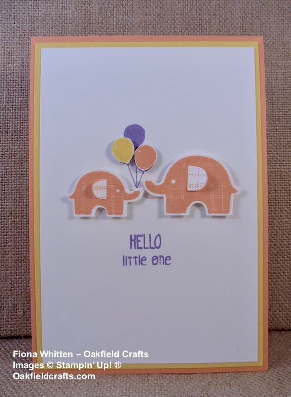 Baby card for the CAS Colours & Sketches Challenge #279
